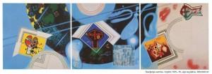 Anton Cetín: Slavljenje svemira, triptih, 1975.